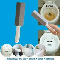 Pumice Stone Scouring Handle Stick Toilet Bathroom Cleaner Remover P9K5