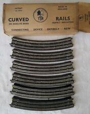 TTR Trix Twin Railway-6 Curved Rails No.410/6 Original Box