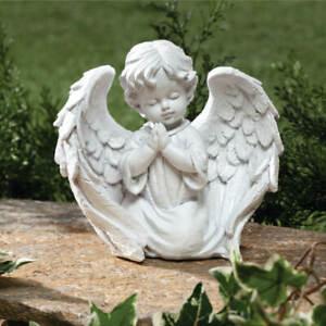 Praying Little Boy Angel Loved Ones Lost Cemetery Memorial Garden Statue