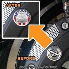 Brembo Front Brake Caliper Insert Set For Harley - POLICE BADGE USA FLAG - 169