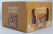 Yankee Candle 12 Scented Tea Light T/L Box Candles GOLDEN CHESTNUT