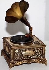 "FANTASTIC VINTAGE ""SWANK"" ANIMATED PHONOGRAPH MUSIC BOX TABLE CIGARETTE LIGHTER"