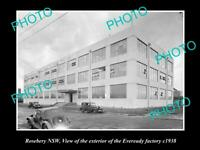 OLD POSTCARD SIZE PHOTO OF ROSEBERY NSW THE EVEREADY BATTERY FACTORY c1938