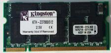 Kingston 512MB 200-Pin Ddr So-DIMM sin búfer DDR 333 PC 2700 KTH-ZD7000/512