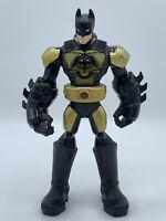 """2013 Mattel 10"""" DC Comics Batman Talking Action Figure Black And Gold Armour"""
