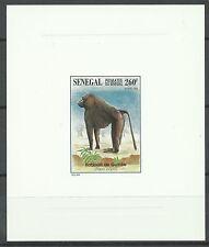 Senegal Singe Babouin Monkey Baboon Pavian Affe Epreuve Deluxe Die Proof ** 1996