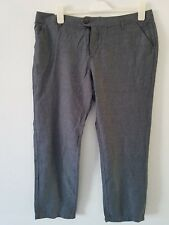 Fat Face - Women's - Linen Mix Ankle Grazer Trousers - 55% Linen  Blue/Night Sky