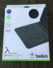 Black Belkin Slim Style Keyboard Case for Samsung Galaxy Tab 3 10.1'' New In Box