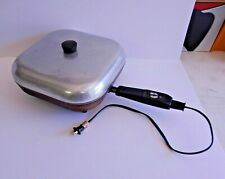 Sunbeam Vtg Adjustable Heat Immersible Electric Frypan Skillet Dome Lid FP-11A