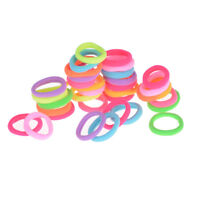 20X Hair Accessories For Girls Women Rubber Bands Ponytail Holder Hair ElasticWA