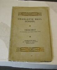 1916 1917 Charlotte Hall Military Academy School Catalogue Sports Student Photos
