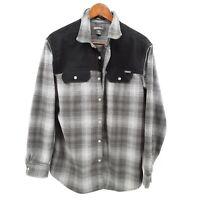 $79 Eddie Bauer Mens Classic Fit Plaid Flannel Button Up Shirt Green Black L