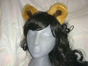 Teddy bear ears headband tan and brown ears