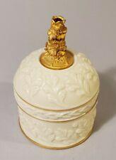 Lenox China Treasures July Birthstone Jewelry Trinket Box Gold Trim c532