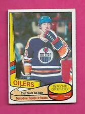 1980-81 OPC  # 87 OILERS WAYNE GRETZKY ALL STAR VG+  CARD (INV# C5368)