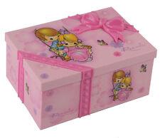 Ballerina Girl Music Box Children Musical Jewelry Box Rectangle Case Pink Gift