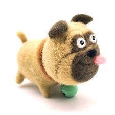 Pug Needle Felting Kit Merino Wool Roving with Video Tutorial
