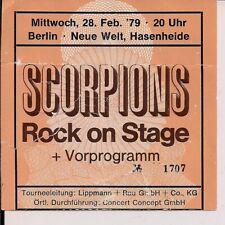 SCORPIONS (feat. Michael Schenker) & Jesse Ballard Used Ticket Berlin 28.02.1979