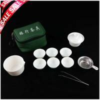 11 pcs Set 2016 Travel Tea Set Ceramic Portable Kungfu Tea Set Chinese Porcelain