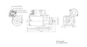 Starter Motor TYC 1-06483