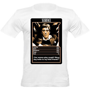 Mens Urban Shaolin Scarface Trump Card Movie Inspired Fitted T-shirt