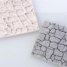 Cobble Stone Wall Silicone Fondant Cake Mould Cake Decor Sugarcraft Baking Tool