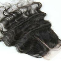 4*4'' Lace Top Closure 100% Brazilian Virgin Hair BodyWave Straight 7A Quality