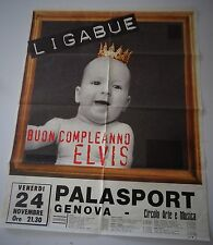 LIGABUE-MANIFESTO  ORIGINALE-CONCERTO GENOVA 24/11/1995-BUON COMPLEANNO ELVIS