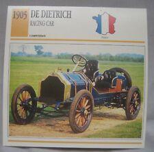 De Dietrich Collectors Classic Car Cards