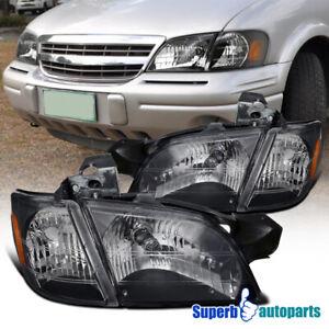 For 1997-2005 Chevy Venture 99-05 Pontiac Montana Headlights+Signal Corner Black
