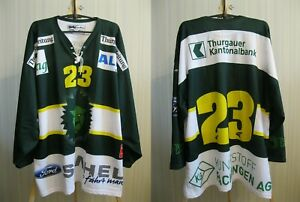 5+/5 HC Thurgau #23 Sz XL Ice Hockey jersey shirt trikot Switzerland Swiss Green