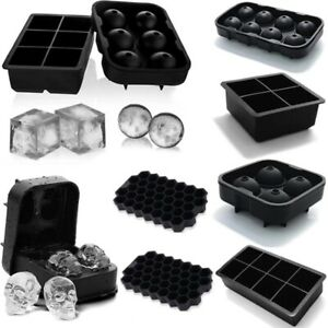 Silicone Ice Cube Tray Large Mold Giant DIY Ball Maker Square Round Tray Mould