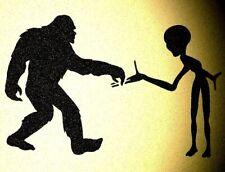 Bigfoot Sasquatch Yeti & Alien Stencil Aliens Mylar Big Foot Stencils