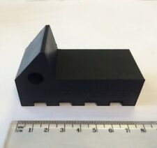 RubberXpress HEAVY-DUTY Black coloured Rubber Flower Pot Feet  - 6 pack
