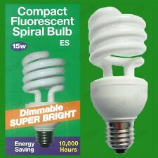 15W E27 ES Dimmable Low Energy CFL Light Bulb, Dimmer Variable Brightness Lamp
