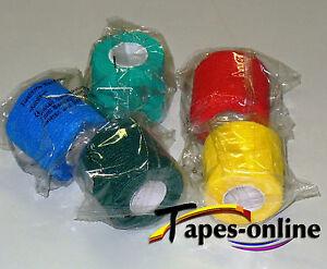 5 selbsthaftende Bandagen elastische Haftbandage Fixierbinde Kohäsiv Pflaster