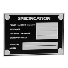 Adam Hall 5800 Speaker Monitor Cabinet Specification Tag Data plate UKmainDEALER