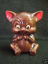 Adorable Vintage Kitty Cat Bank with Gold-Japan