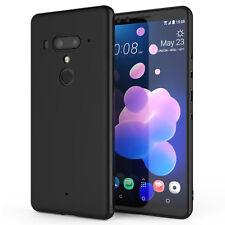 HTC U12 Plus Case, Slim Silicone Ultra Soft Gel Best Phone Cover - Matte Black