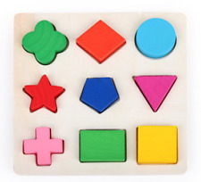 New Kids Baby Wooden Learning Geometry Educational Toys Creative Puzzle Toys