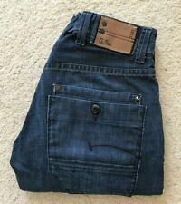 Mens G-Star Army Radar straight leg indigo blue denim jeans W 34 L 31