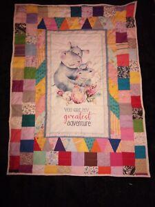 Childrens Patchwork Quilt handmade
