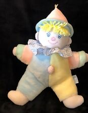 Eden Clown Pastel Wind Up Musical You Are My Sunshine Plush Toy