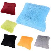 Soft Fur Plush Square Throw Pillow Cases Home Decor Sofa Waist Cushion Cover ESU