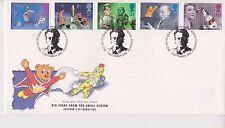 Risolte GB Royal mail FDC 1996 per Bambini Televisione Televisore Bureau PMK