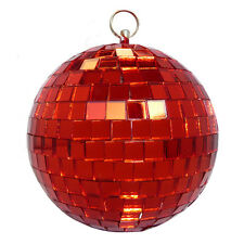 rot 10cm Spiegelkugel Disko-Kugel Disco-Kugel DJ Deko Effekt-Licht Party-Licht