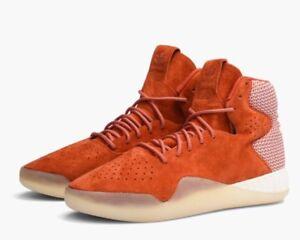 Adidas Tubular Instinct Men's High Top Casual Shoes S80089 Orange Chili Size 8.5