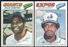 BUY 1, GET 1 FREE - 1977 TOPPS BASEBALL - YOU PICK NUMBERS - #601 - #660 - NMMT