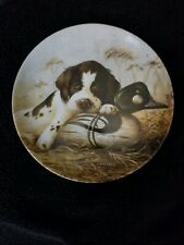 "Knowles 1987 Springer Spaniel puppy Dog Tired Lynn Kaatz collectors 8-1/2"" plate"