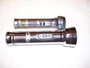 Pair of Vintage Eveready and Rayovac Sportsman Chrome Flashlights